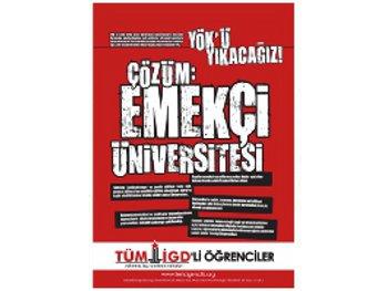 YÖK'e karşı alanlara 6 Kasım'da Ankara'ya