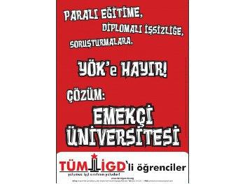 YÖK'ü yıkmak, Emekçi Üniversitesi'ni kurmak için alanlarda buluşalım!