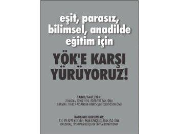 TÜM-İGD'li öğrenciler YÖK'e karşı İzmir'de alanlarda olacak