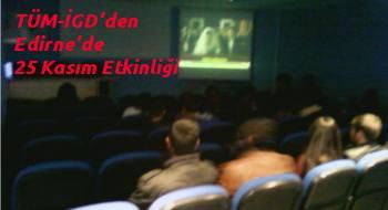 """Edirneli İlerici Öğrenciler'den """"Kadına Şiddete Son!"""" etkinliği"""