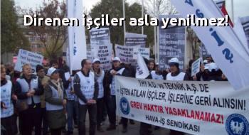THY işçisi Bakırköy Özgürlük Meydanı'ndan haykırdı