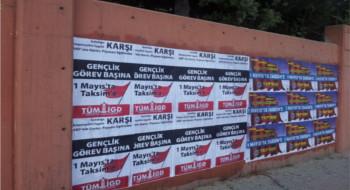 İlerici Gençler Alibeyköy'de 1 Mayıs çağrısını yükseltiyor