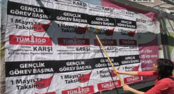 İlerici Gençler İzmir'de 1 Mayıs'ta Taksim'e çağırmayı sürdürüyor